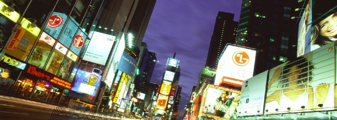 Times Square at night, Manhattan, New York, USA --- Image by © ImageShop/Corbis